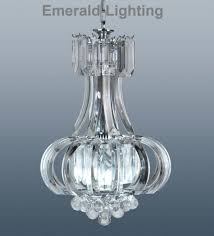 stunning small clarence chandelier ceiling light with crystal effect prisms