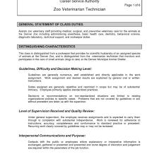 Veterinary Technician Resume Nonsensical Veterinary Technician Resume 24 Vet Tech Resume Skills 13