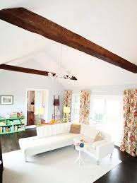 faux wood ceiling beams. Fine Faux See How Heather Of The Heathered Nest Used Faux Wood Beams Purchased At A  Fraction The Cost Real Ones To Add Architectural Flair Their Family Room Intended Faux Wood Ceiling Beams O