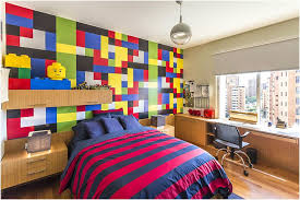 lego furniture for kids rooms. Decor:Colorful Wallpaper Lego Bedroom Drawers Decoration Nostalgic Ambience Using Furniture For Kids Advanced Interior Rooms O