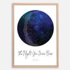 Details About Custom Star Map Night Sky Chart Constellation Print Wedding Fathers Day Gift