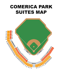 Comerica Park Seating Map Comerica Park Map Seating