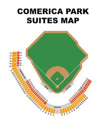 Comerica Field Seating Chart Comerica Park Seating Map Comerica Park Map Seating