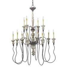 provence french country white and grey wash 12 light chandelier kathy kuo home