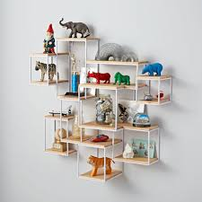 ... Decorative Wall Shelves For Toys White Colored Wall Wooden Material  Racks Metal Frame Sclupture Wall Shelves ...