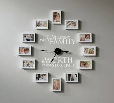 how to create a photo frame wall clock time spent with family is worth every second you