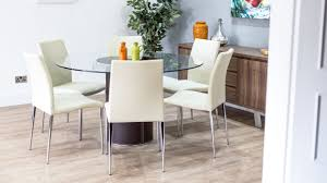 table knockout chair round glass dining table and 6 chairs ciov