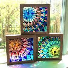 fake stained glass window fake stained glass window panels