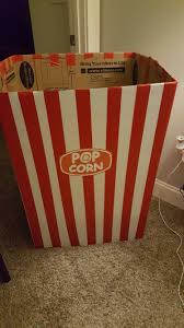 Decorative Popcorn Boxes DIY giant popcorn box for movie party Cheyenne's Movie Night 60th 49