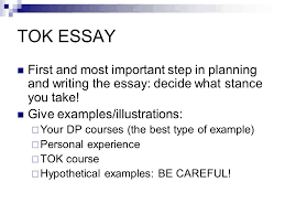 tok essay the title sets the scope of the question your job is to 4 tok