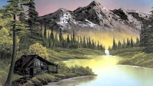 bob ross painting montage