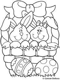 Kleurplaat Twee Haasjes In Een Mand Sunday School Desenhos De