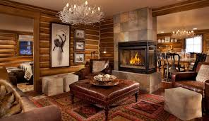 rustic living room design. Decor Ideas Astounding Living Room Modern Rustic Style Brown Leather Accent Chair Design