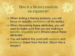 writing a literary analysis how is a literary analysis