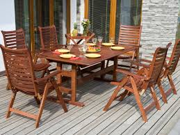 ... Wood Patio Tables Outdoor Furniture Wood Types Outside Dining Room With  Wooden Furniture Yellow ...