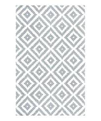 gray geometric wool rug nuloom braided 9x12