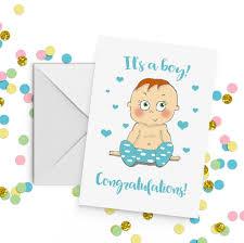 Congratulations For A Baby Boy Baby Boy Congratulations Card A5