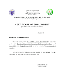 Fresh Certificate Employment Sample For Private Duty Nurse Work