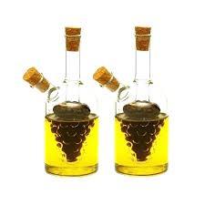 oil and vinegar bottle set glass olive oil and vinegar dispenser cruet