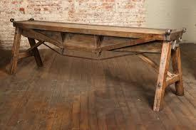 iron industrial furniture. vintage industrial cast iron u0026 wood antique brake table furniture c