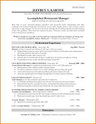 10 Sample Of Restaurant Manager Resume Writing Resume Sample