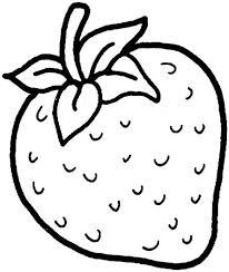 Kleurplaat Aardbei Thema Fruit 과일 딸기 En 자수 도안