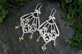 asherah peridot earrings