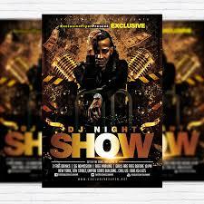 dj night show premium flyer template facebook cover exclusiveflyer night showpsd templatesflyer templatedj facebookfreecoverslipcovers