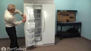refrigerator gasket repair. refrigerator repair - replacing the freezer door gasket (whirlpool part # 2159074/2159082) d