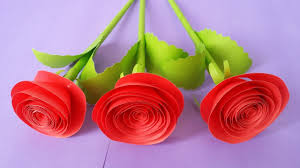 Chart Paper Flowers Step By Step How To Make Rose Flower With Colour Paper