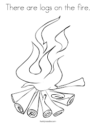 Small Picture There are logs on the fire Coloring Page Twisty Noodle