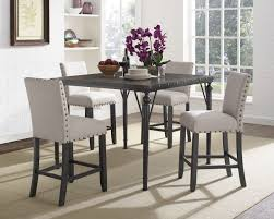 awesome gracie oaks amy wood counter height 5 piece dining set with fabric bertoia side chair