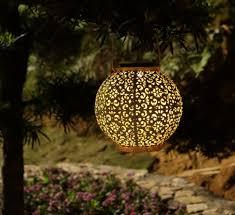 china solar big lantern hanging garden