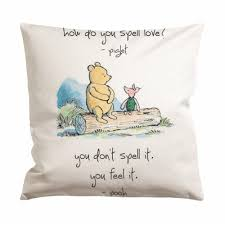 Winnie The Pooh Piglet Love Quote Cushion Case Pillow Case Giftmug