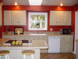 kitchen color decorating ideas. Beautiful Small Kitchen Decorating Ideas With Orange Painted Color T