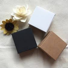 4sizes black white kraft paper gift packaging box carton cardboard box soap jewelry candy package ng paper small wrapping paper and ribbon wrapping