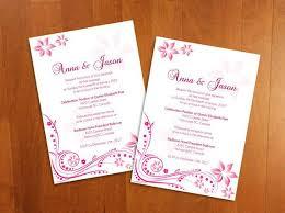 Microsoft Invitation Diy Printable Wedding Invitation Card Microsoft Word Template Pink