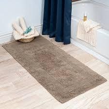 long bath rug large bathroom contour three posts extra reversible