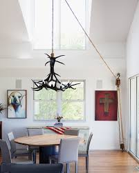 swag chandelier over dining table immense awe plug in furniture ege sushi interior design 11