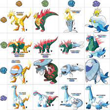 Restored galar fossils and combinations by RZGmon200 on DeviantArt