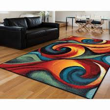 bright colored area rugs new waves of color swirl to form an abstract area rug that