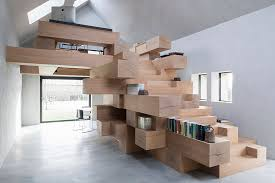 Office Stairs Stair Of The Week Creates A Jenga Like Office Treehugger