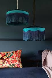 bespoke teal silk tiffany lamp shade