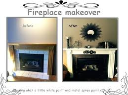 high temperature paint for fireplace fireplace makeover heat resistant spray paint to take care of the