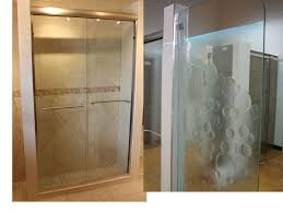 alluring frosted glass shower enclosure and glass shower door frosted shower door design home depot frosted