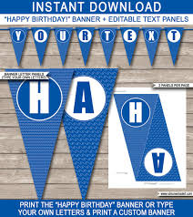 Pool Party Banner Happy Birthday Banner Custom Pool Party Banner