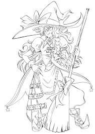 Small Picture Search Results Anime Printable Coloring Pages Witch