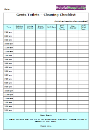 Bathroom Cleaning Schedule Amazing Hourly Checklist Template Meloyogawithjoco