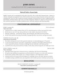 Sales Associate Resume Retail Sales Associate Resume Sample Resume Templates