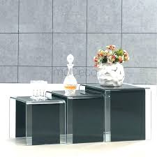 glass coffee table set of 3 luxury coffee table set of 3 coffee and side table